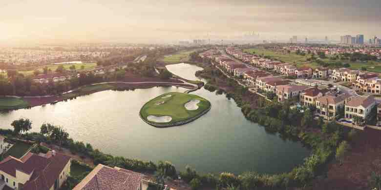 Jumeirah Golf Estates sunset landscape