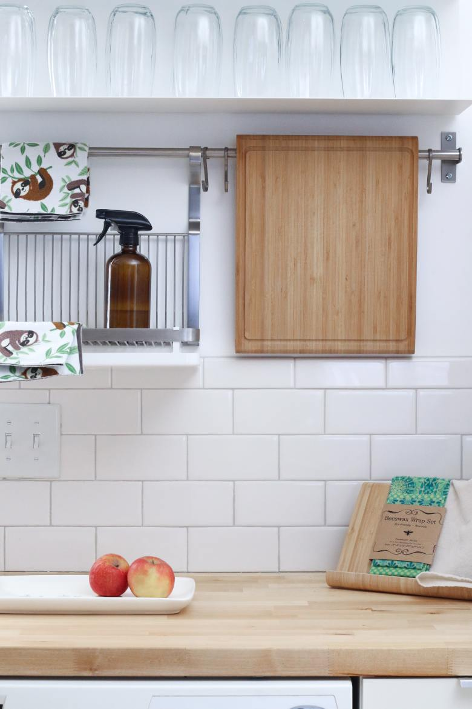 Clean kitchen shelves