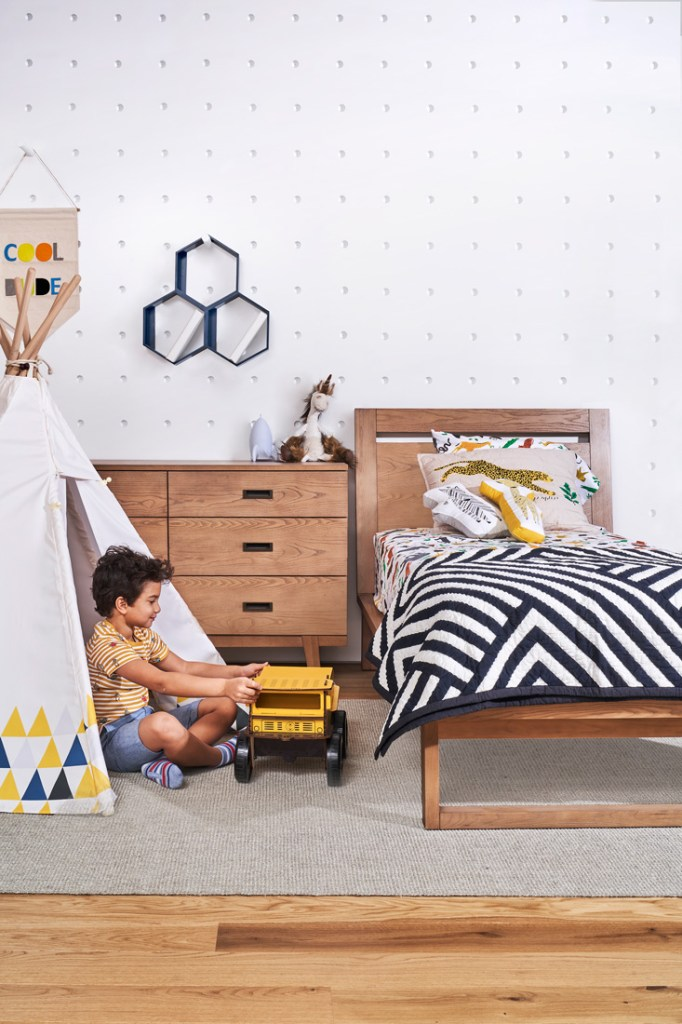 Crate and Kids little boy's bedroom with teepee