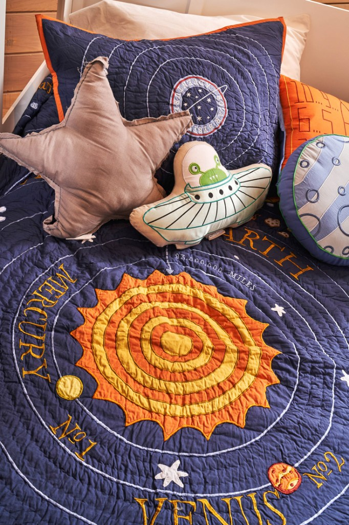 Crate and Kids solar system kids' duvet and cushions