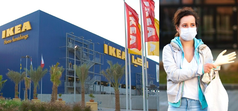 ikea shopping masks and gloves