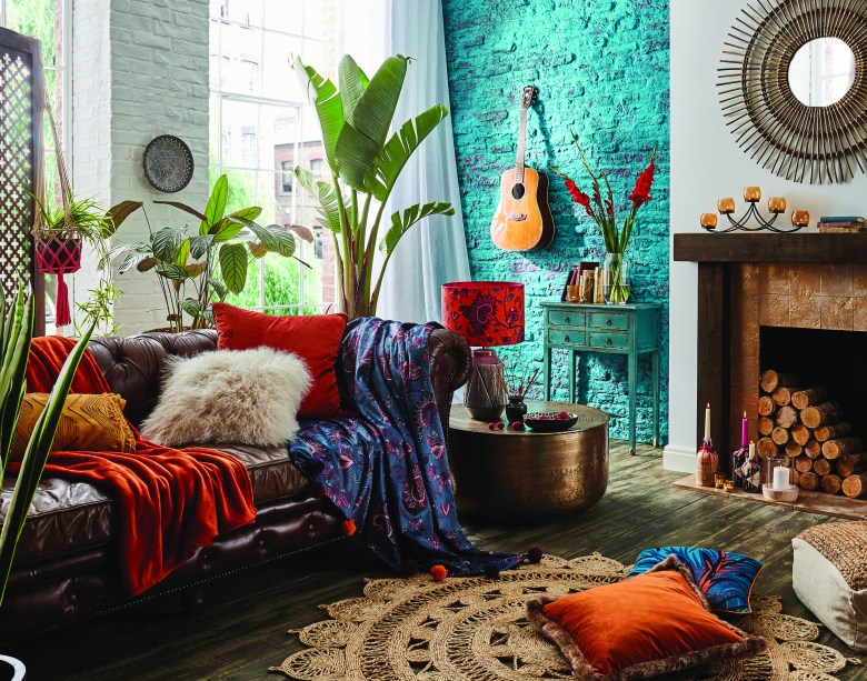 Ethnic styled living room