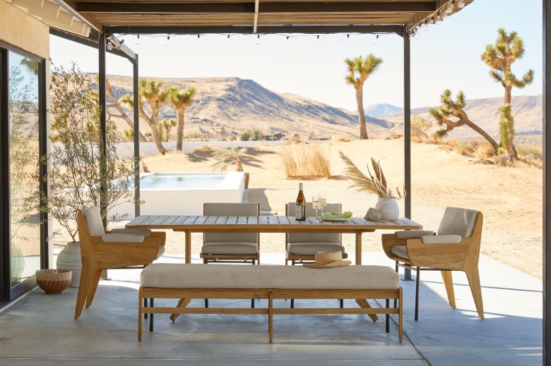 Kinney Teak outdoor furniture collection Crate and Barrel