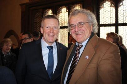 Walter Erhard (Stadtrat Bündnis 90/Die Grünen) und Günther Riepl (Stadtrat Freie Wähler)