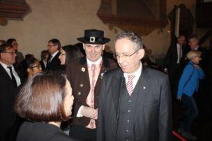 Erich Tahedl (CSU-Stadtrat) und Kulturreferent Clemens Unger (re.)