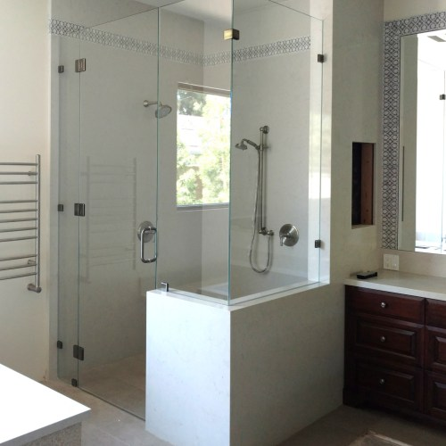 90 Degree Glass to Glass Hinges by Blizzard Frameless Showers