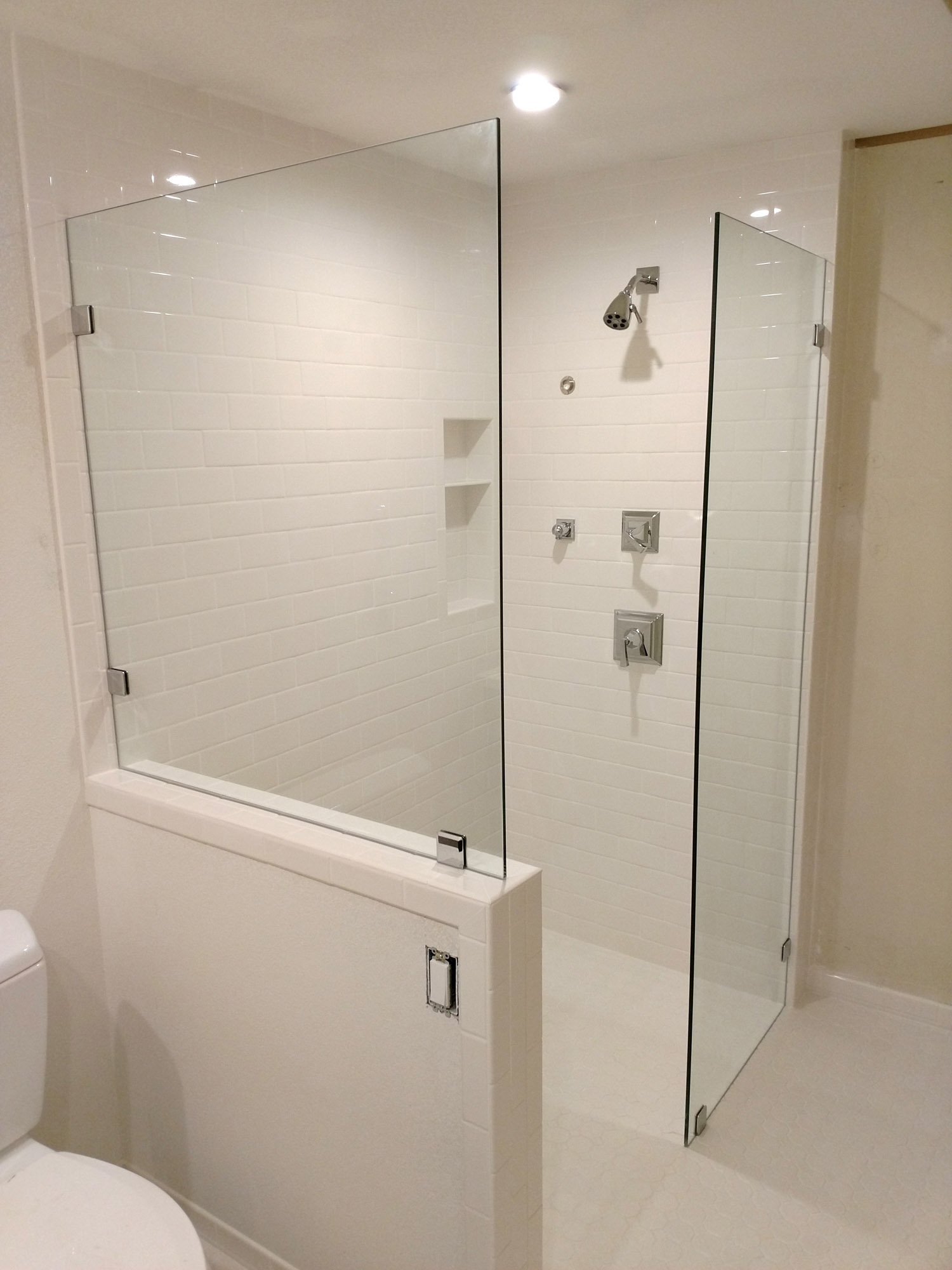 Custom Dual Splash Panels By Blizzard Frameless Showers