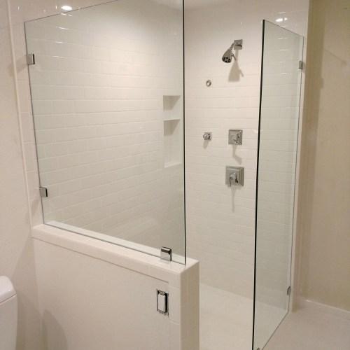 Custom Dual Splash Panels By Blizzard Frameless Showers