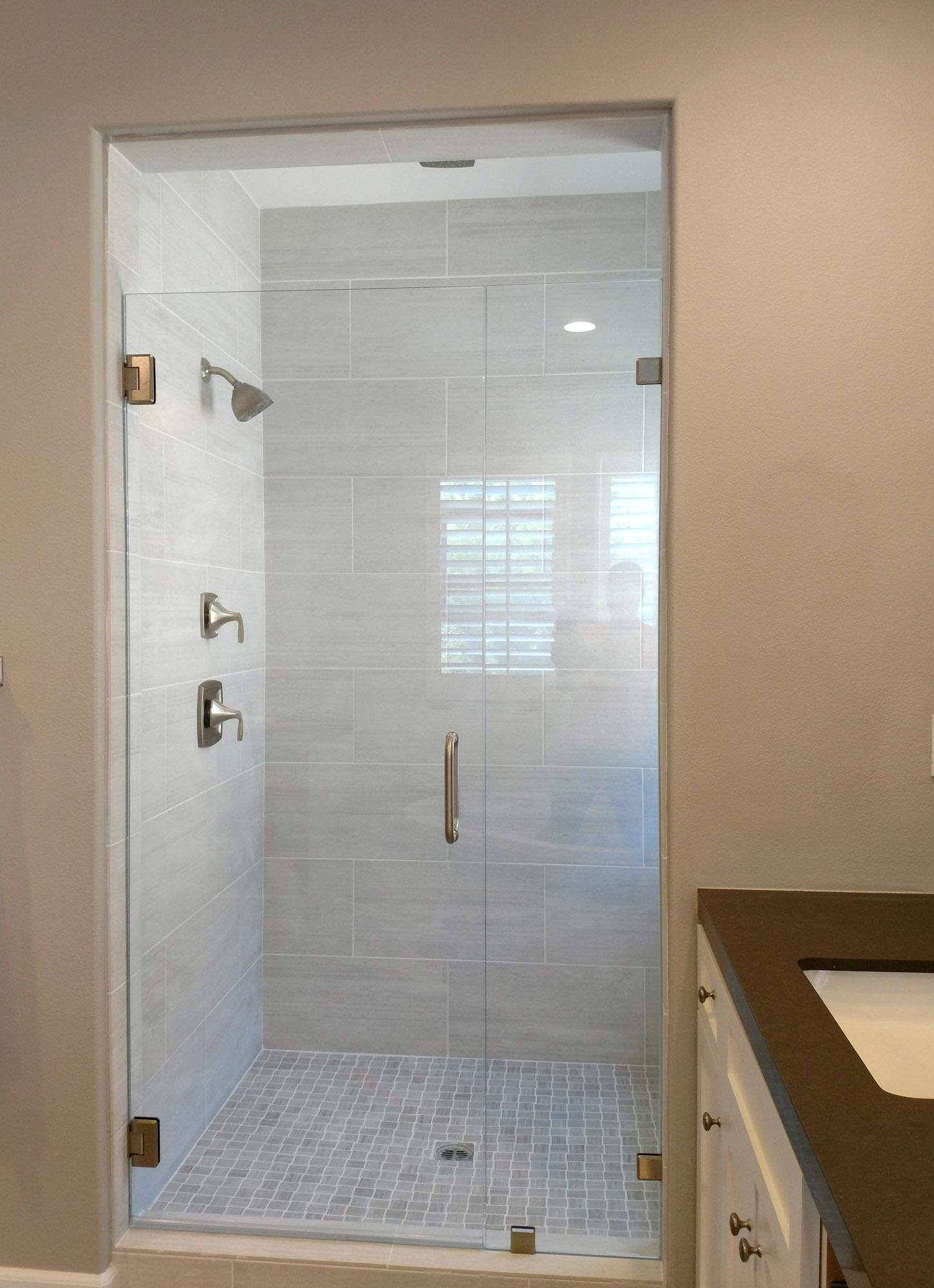 Inline Glass to Glass by Blizzard Frameless Showers & Inline Shower Door Gallery \u2013 Blizzard Frameless