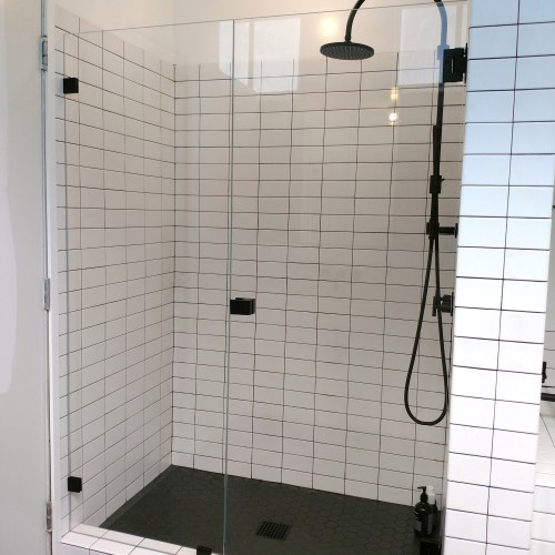 Inline Glass to Glass by Blizzard Frameless Showers