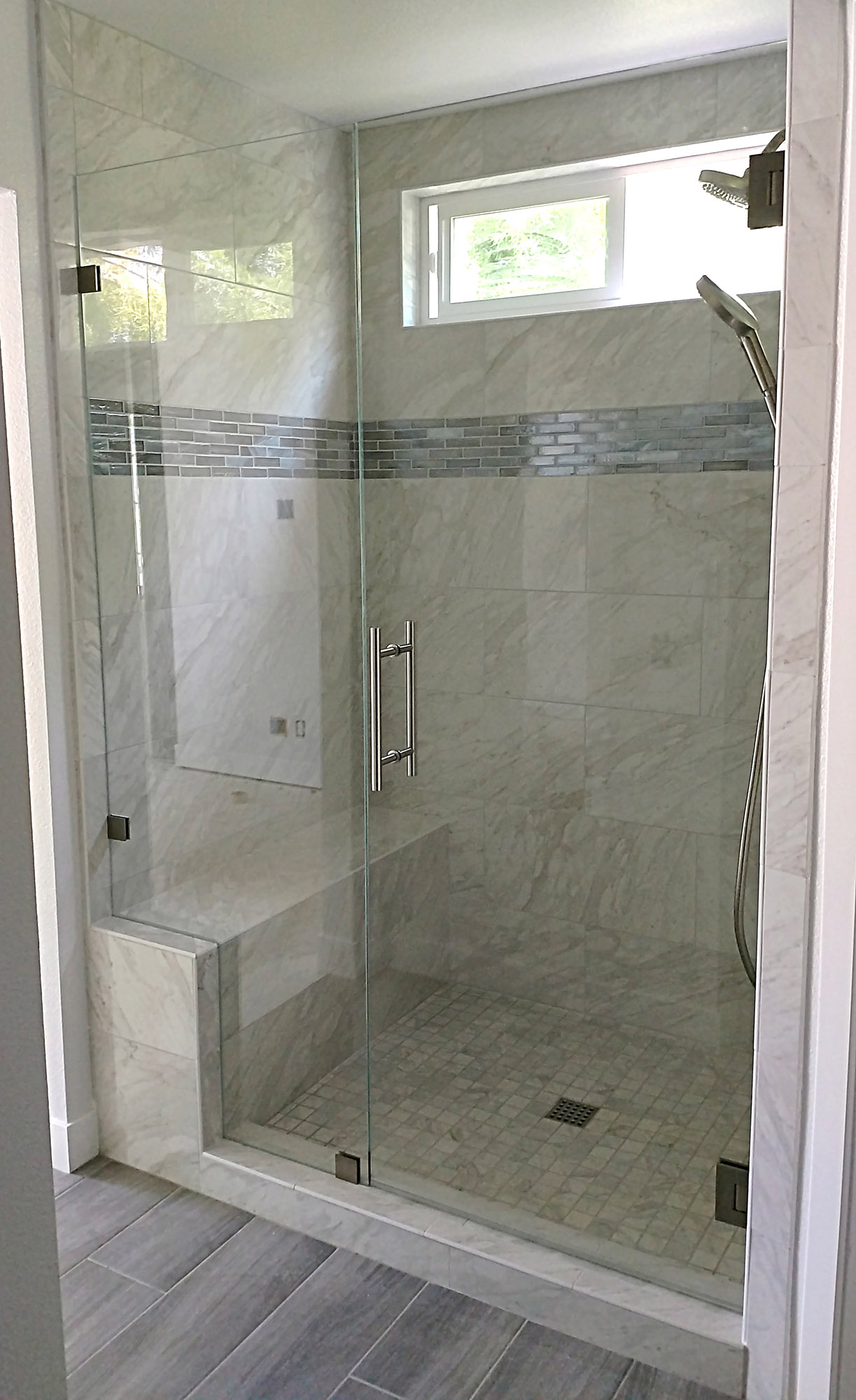 Inline Shower Door Gallery Blizzard Frameless