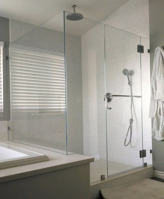Home Slide 90 Degree Glass To Glass By Blizzard Frameless Showers