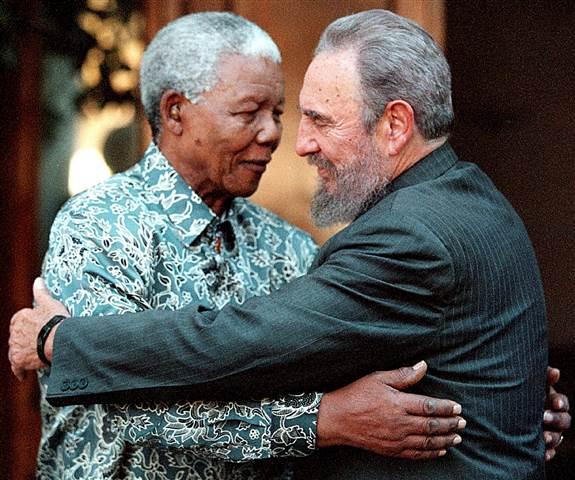 Image: Nelson Mandela and Fidel Castro
