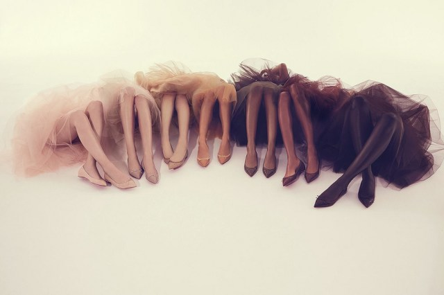 Louboutin nude flats photo