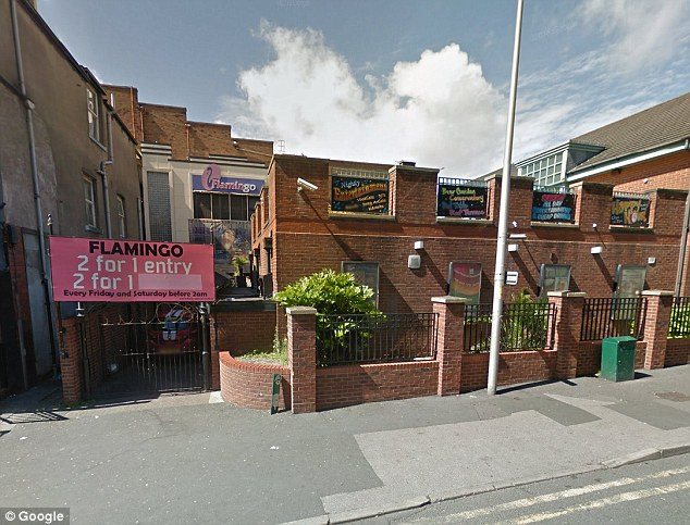 Scene of the supposed crime: The alleged assault was said to have happened at Flamingo night club on November 19
