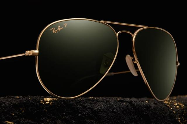 Ray Ban Aviator Solid Gold (2)