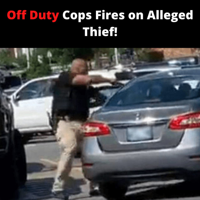 At a Walmart in Del City, Oklahoma an off duty Langston University cop took to lethal force as him and the suspect in their car had a physical altercation.