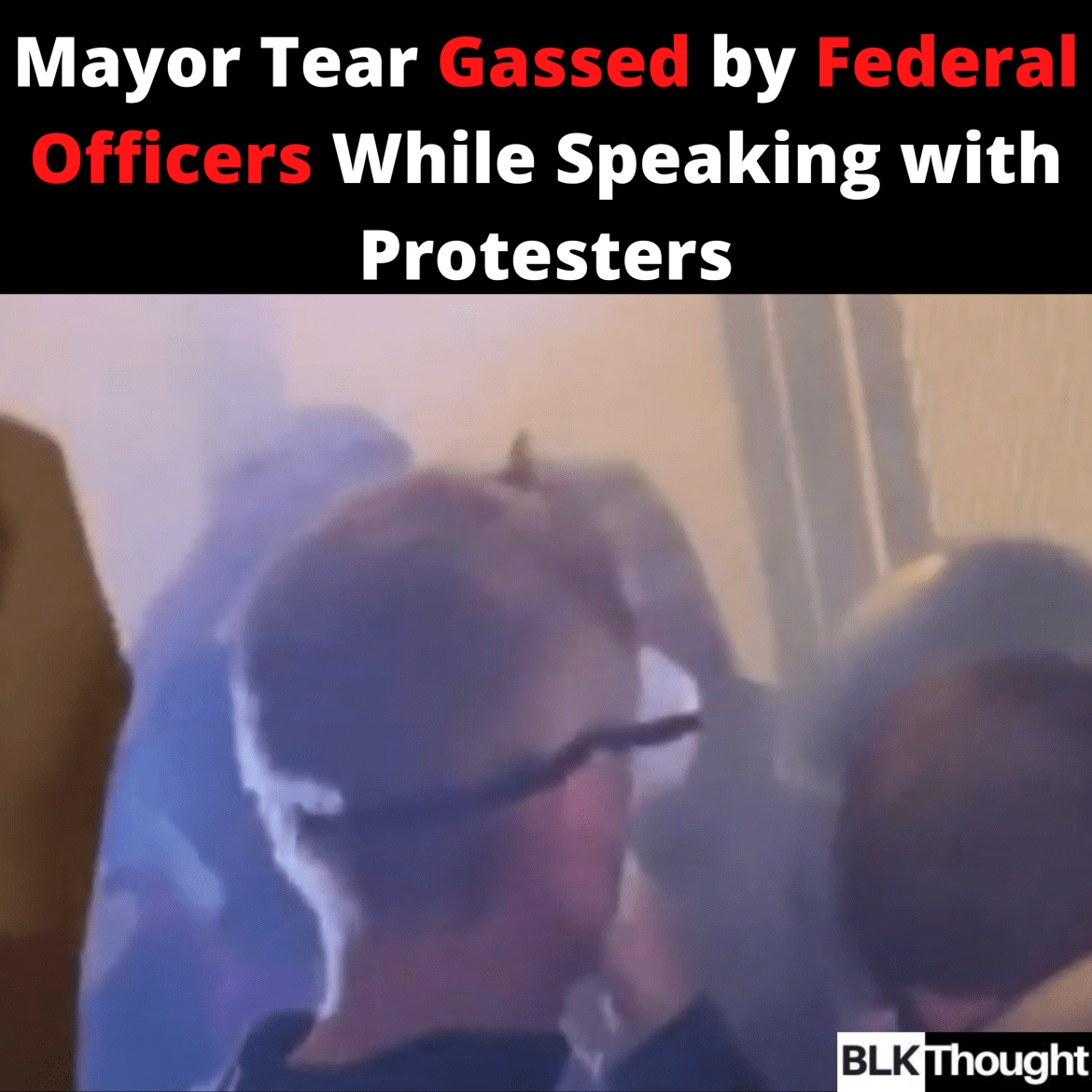Portland Mayor Tear Gassed by Federal Officers While Speaking with Protesters