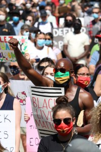 Black Lives Matter protest in London, Ontario from June 2020.