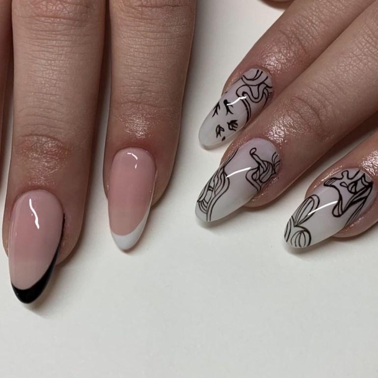 Minimalist French Manicure Nails by nailedbytav