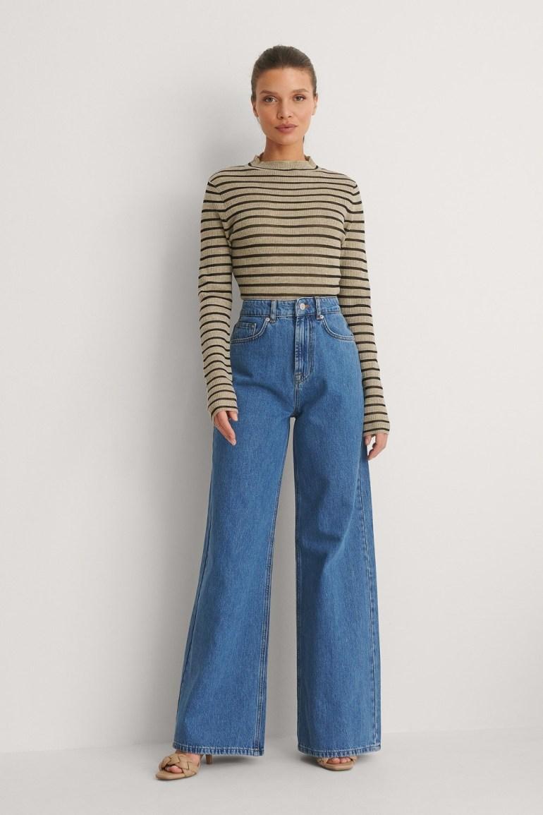 NA-KD Trend Soft Rigid Wide Jeans