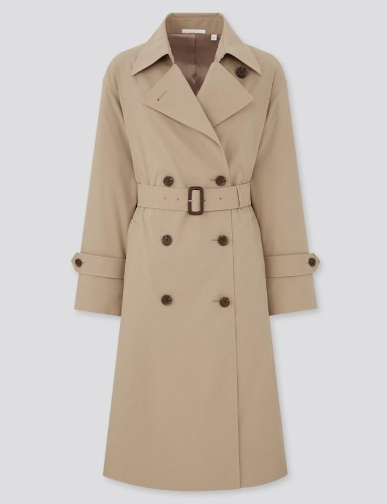 Uniqlo Women Oversized Fit Trench Coat - Beige