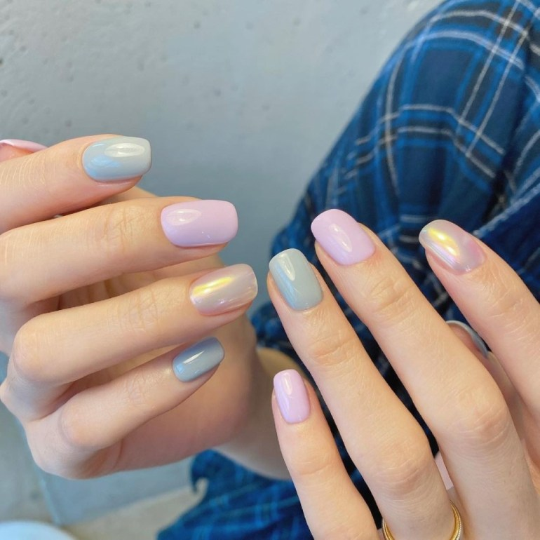 Spring Manicure: Pearlescent Nails   Pearl & Pastel Nails by Nail A La Mode