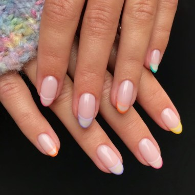 Double French Manicure - Nails By E