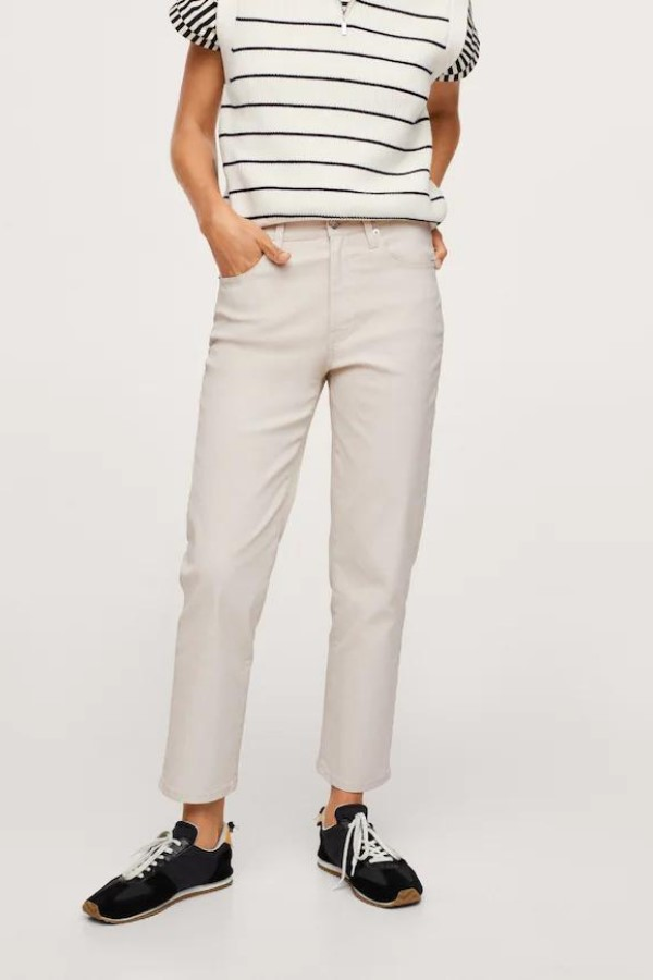 Shop the MANGO Ankle-Length Straight-Fit Jeans