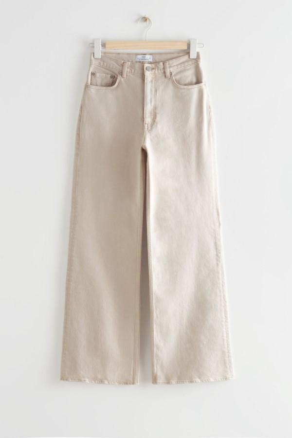 Shop the & Other Stories Treasure Cut Jeans - Ecru