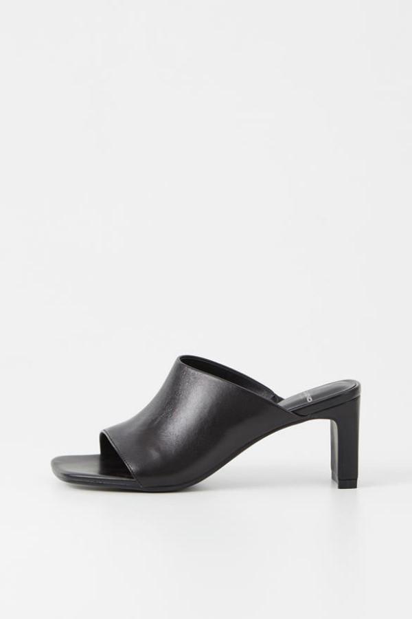 VAGABOND Luisa Heeled Mules – Black
