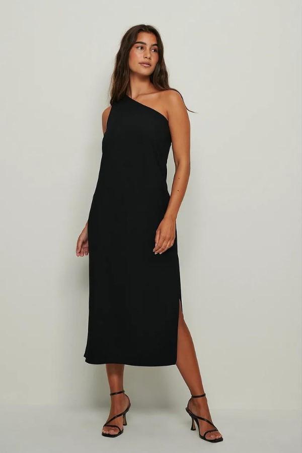NA-KD One Shoulder Midi Dress