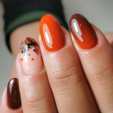 Autumn 2021 Nail Art Trends: Burnt Orange Nails by Meraki Nails