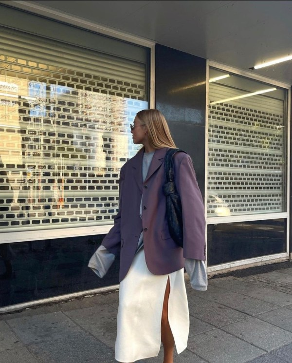 Ellen Claesson wearing Acne Studios Woven Blazer