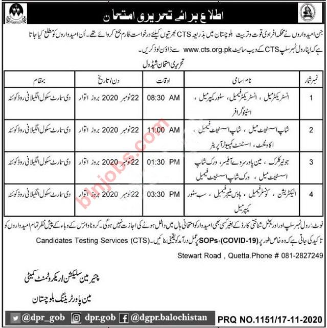 Labour and Manpower Department Balochistan Jobs Test 2020