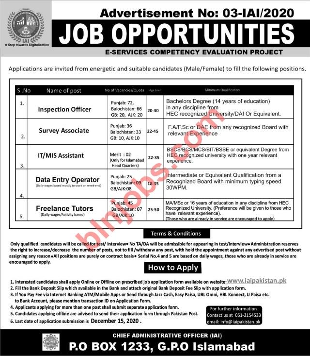 IAI Pakistan Jobs 2020