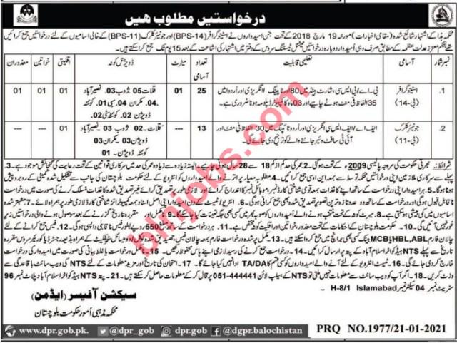 Religious Affairs Department Balochistan Jobs 2021