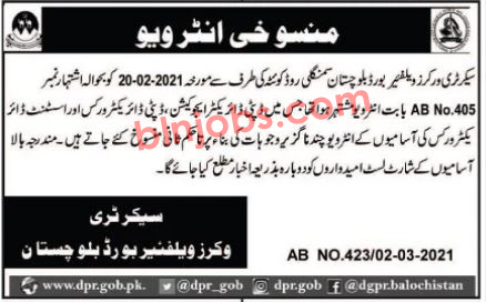 Canceled Interview of Worker Welfare Board Department