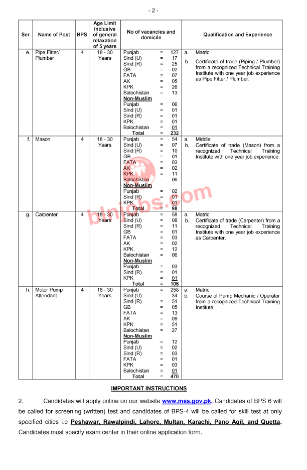 Military Engineering Services MES Jobs 2021 Apply Online