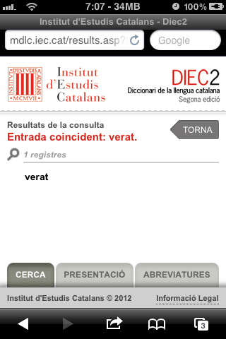 DIEC paraula 'verat' trobada