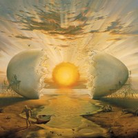 Sunrise by the ocean (Vladimir Kush, 2000)