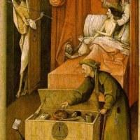 La muerte del avaro (El Bosco, 1490)