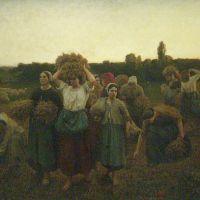 La retirada de las espigadoras (Jules Breton, 1859)