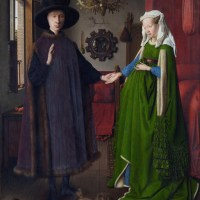 Retrato de Giovanni Arnolfini  y su esposa (Van Eyck, 1434)