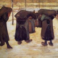 mujeres con sacos de carbón (Van Gogh, 1882)