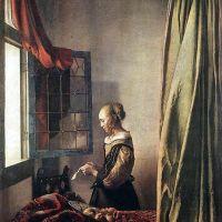 Muchacha leyendo una carta (Vermeer, 1657)