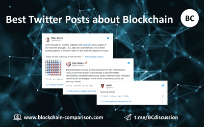 Best Tweets about blockchain & crypto
