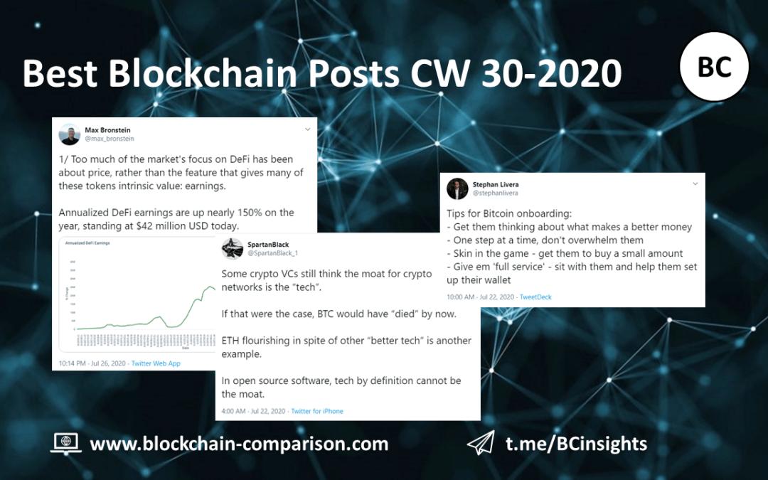 Weekly Blockchain Insights (CW 30-2020)