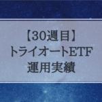 【30週目】トライオートETF運用実績