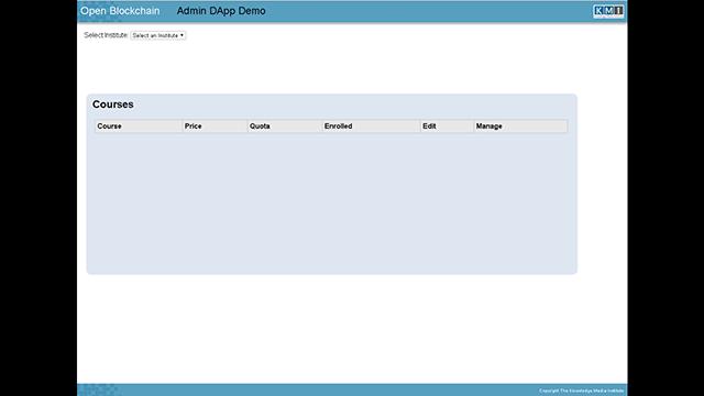 Course Admin Demo
